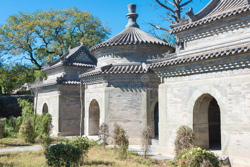 PÉKIN, CHINE - 12 octobre 2015 : Tombe de Tianyi (tombe d'eunuque) un célèbre photo libre de droits