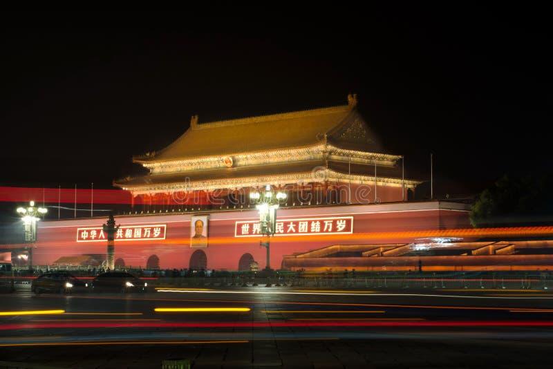 PÉKIN, CHINE - 26 SEPTEMBRE 2016 : La porte de la paix merveilleuse a images libres de droits