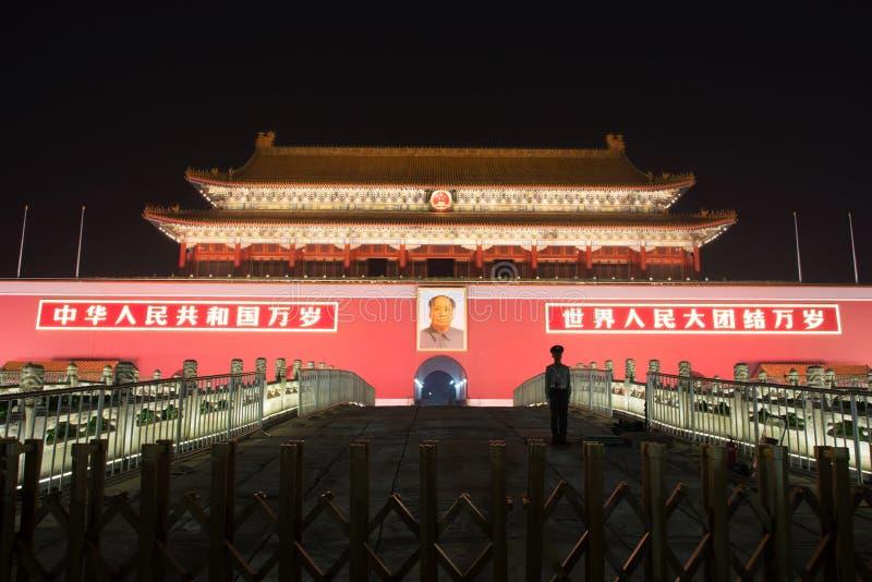 PÉKIN, CHINE - 26 SEPTEMBRE 2016 : La porte de la paix merveilleuse image libre de droits