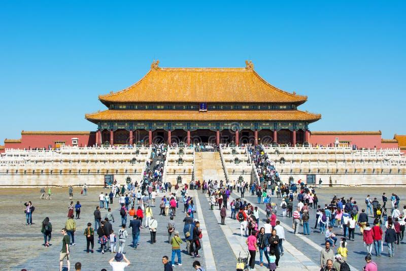 PÉKIN, CHINE - 29 SEPTEMBRE 2016 : PA impériale de Cité interdite photo libre de droits