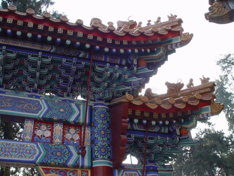 Pékin Chine - structure fleurie image stock