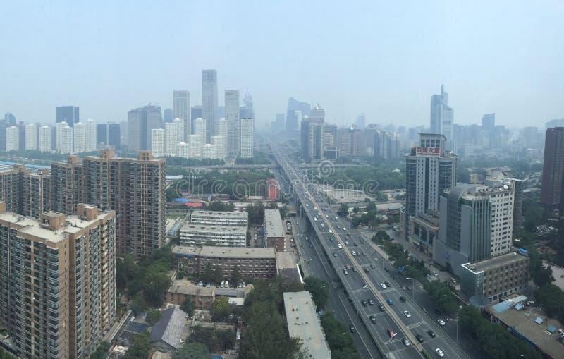 PÉKIN, CHINE - VERS en juin 2015, la vue sur Beijing' ; financia de s photographie stock libre de droits