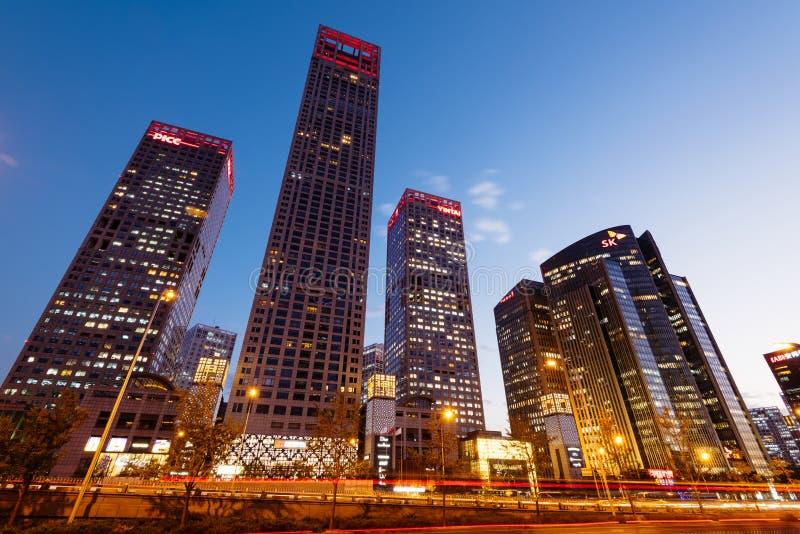 Pékin, district des affaires de central de la Chine images stock