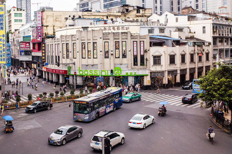 Pékin Lu est l'un d'achats principaux de Guangzhou s photos libres de droits
