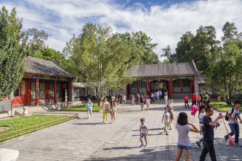 Pékin Palais impérial d'été Vue d'une des cours de la partie résidentielle image stock
