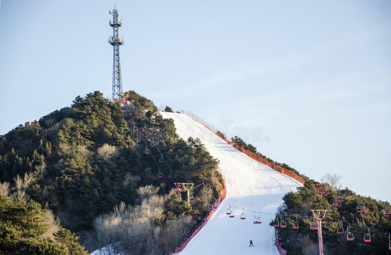 Pékin Ski Resort image libre de droits