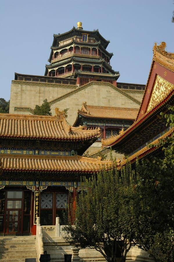 Pékin - temples de palais d'été photos stock