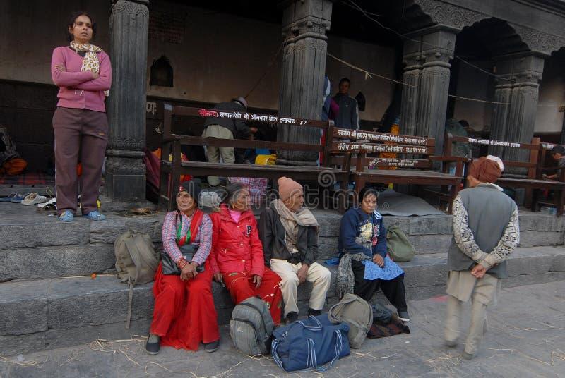 Pélerinage du Népal images stock