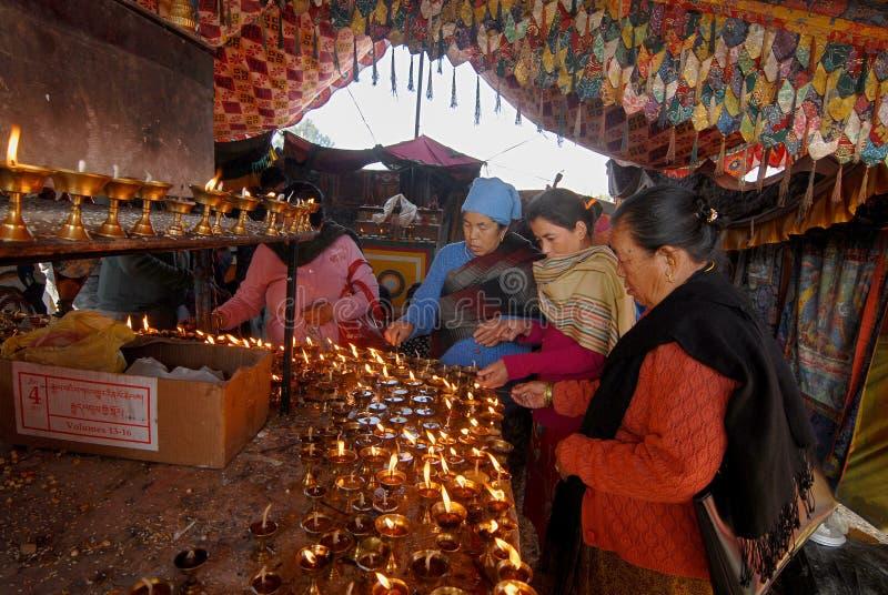 Pélerinage du Népal photos libres de droits