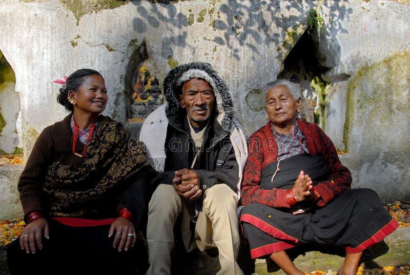 Pélerinage du Népal image stock