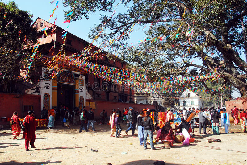 Pélerinage du Népal photo stock