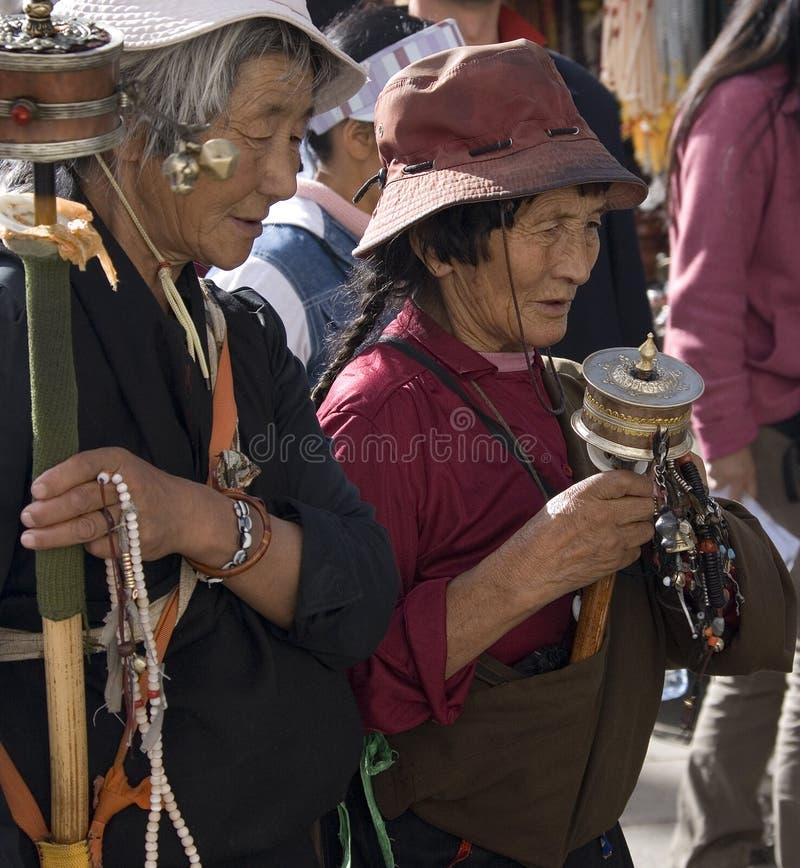 Pélerins tibétains - Lhasa - Thibet images libres de droits