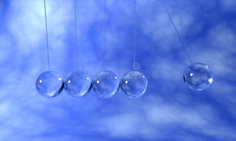 Péndulo cristalino stock de ilustración