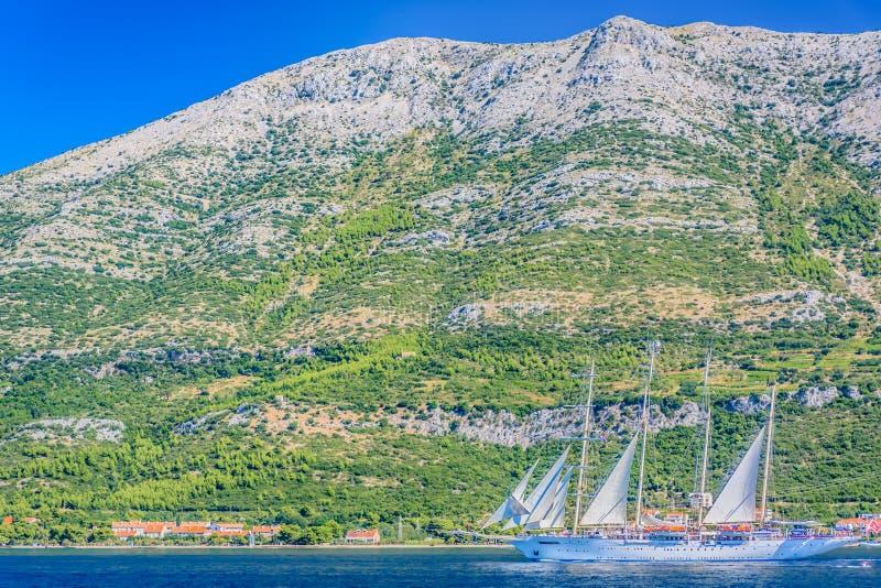 Péninsule de Peljesac en Croatie, été photo stock