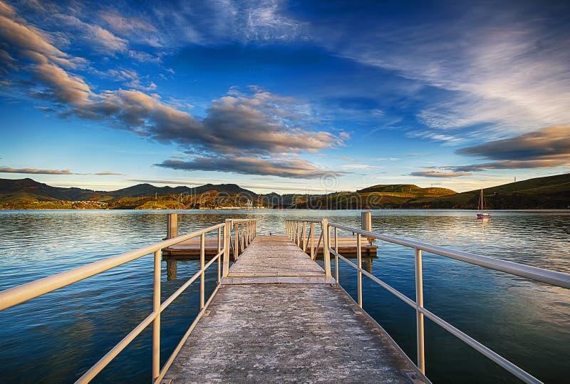 Péninsule Dunedin Nouvelle-Zélande d'Otago de lever de soleil photos libres de droits