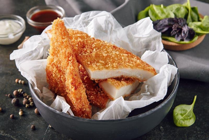 Pépites chaudes de Fried Crispy Chicken Fillet ou de viande photographie stock