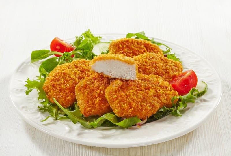 Pépites de poulet photo stock