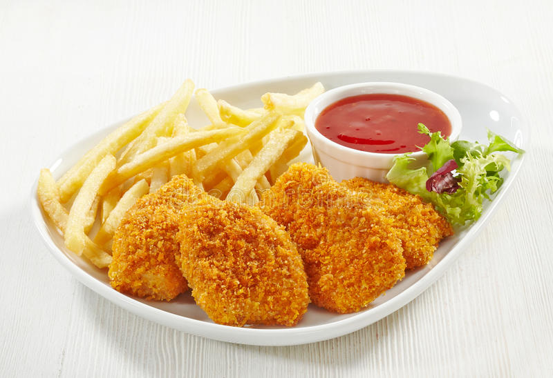 Pépites de poulet photos stock