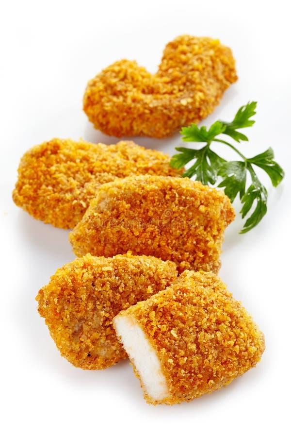Pépites de poulet image stock