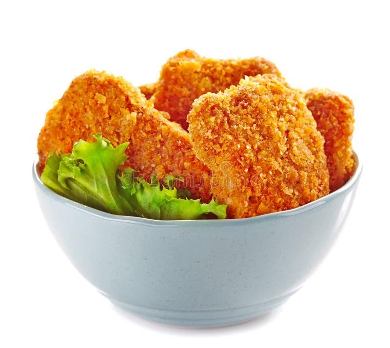 Pépites de poulet photo libre de droits