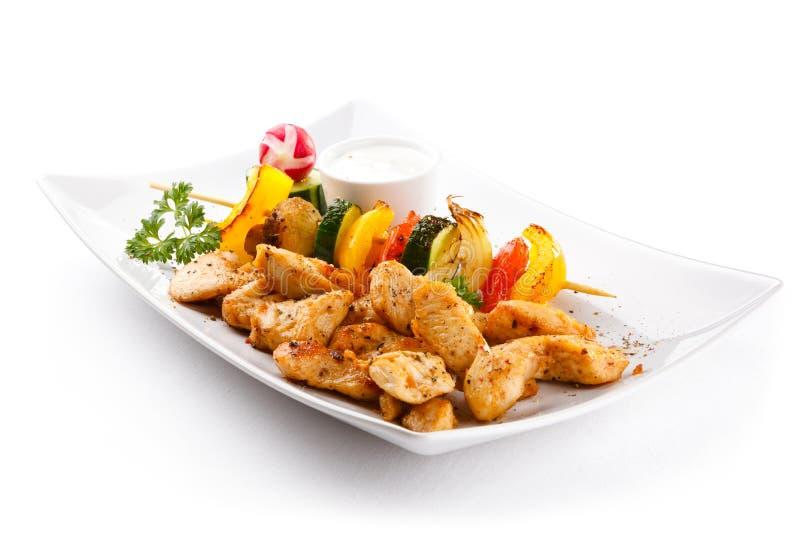 Pépites de poulet frit image libre de droits