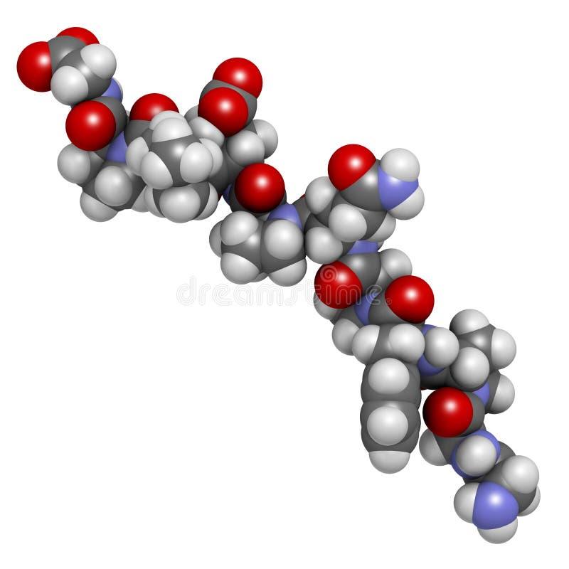 Péptido derivado gliadina. Producto de descomposición inmunogenético del gluten ilustración del vector