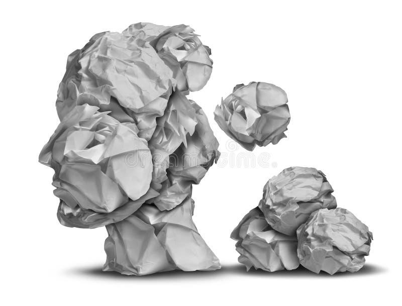 Pérdida de la demencia ilustración del vector