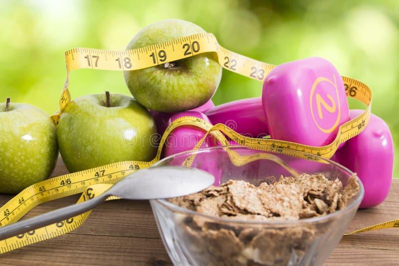 Pérdida de la dieta y de peso imagen de archivo libre de regalías