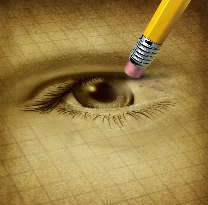 Pérdida de la visión libre illustration