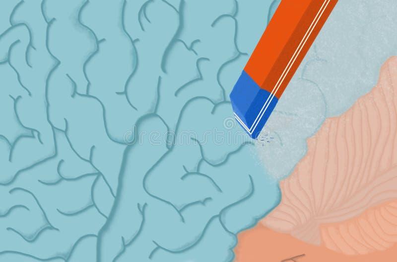Pérdida de memoria ilustración del vector
