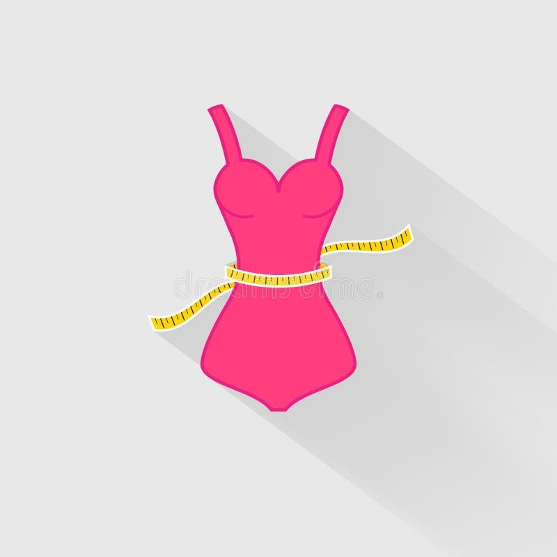 Pérdida de peso La medida de la cintura libre illustration