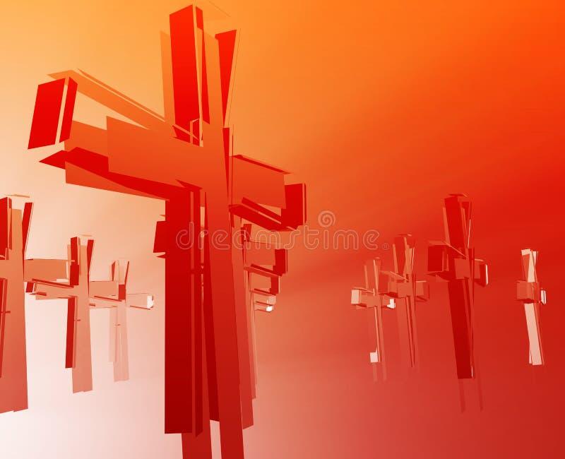 Pérdida de religión de la fe stock de ilustración