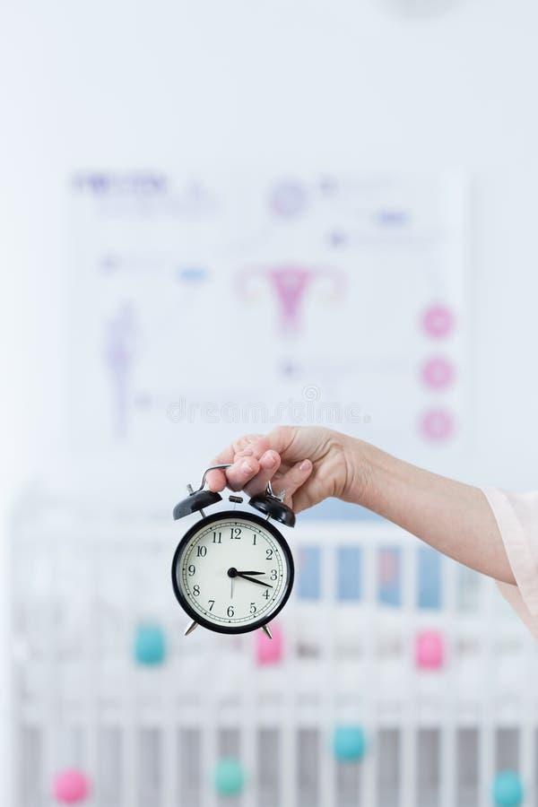Période de coutil d'horloge biologique photos libres de droits