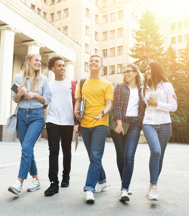 Période libre des étudiants, rythme de la vie du campus du célibataire images libres de droits