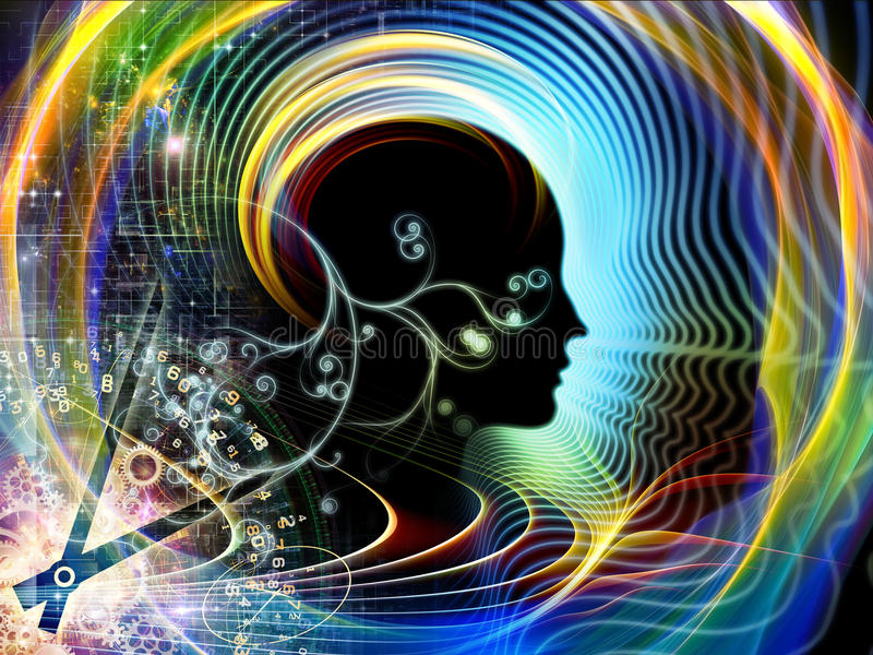 Périodes d'esprit humain illustration libre de droits
