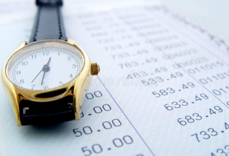 Périodes financières photographie stock libre de droits