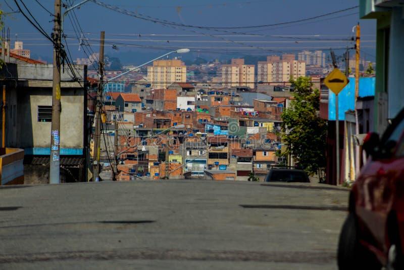 Périphérie, Sao Paulo, Brésil photo stock