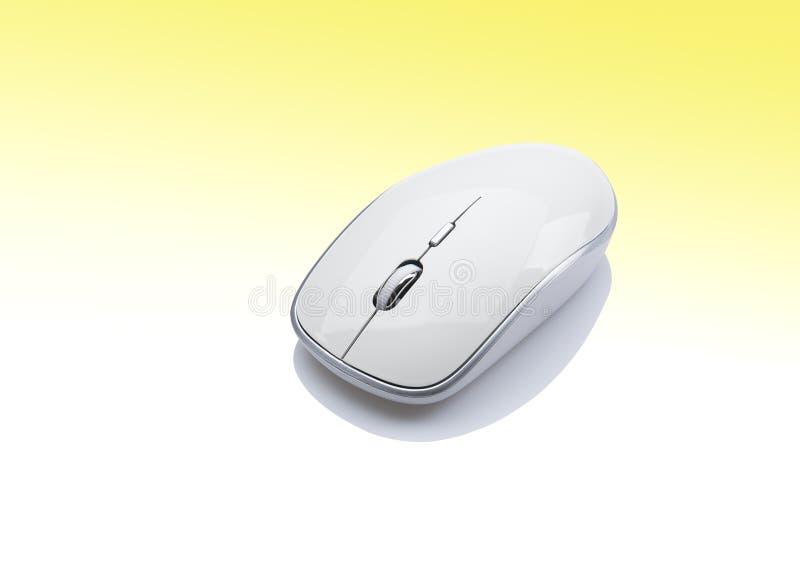 Périphérique d'entrée blanc de souris d'ordinateur photo libre de droits