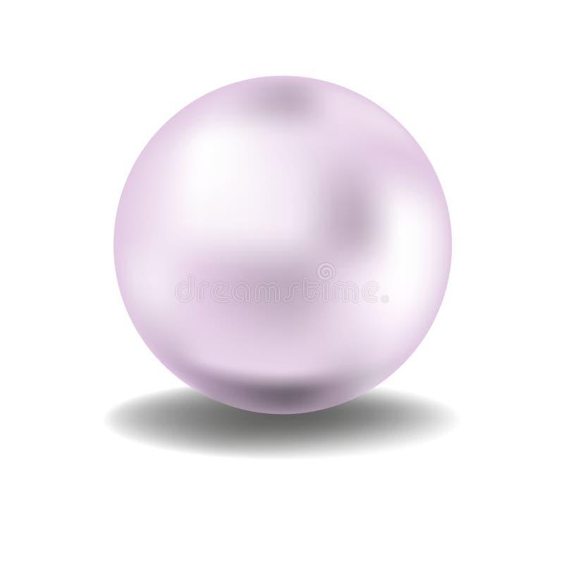 Pérola cor-de-rosa ilustração royalty free