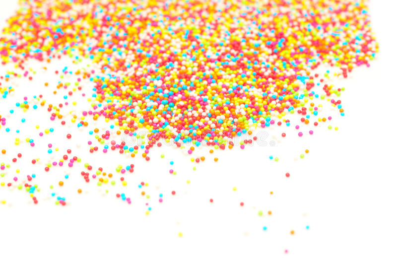 Pérolas do açúcar fotografia de stock