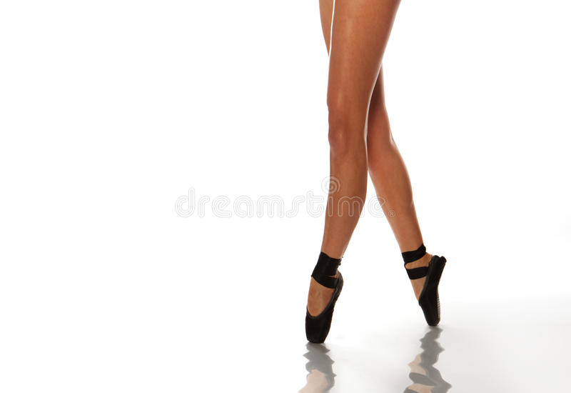 Pés da bailarina foto de stock royalty free
