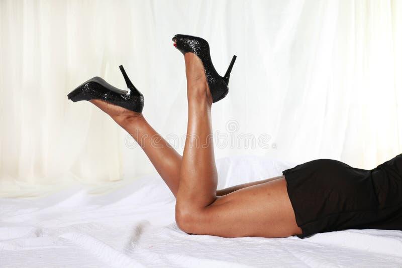 Pés da mulher fotografia de stock