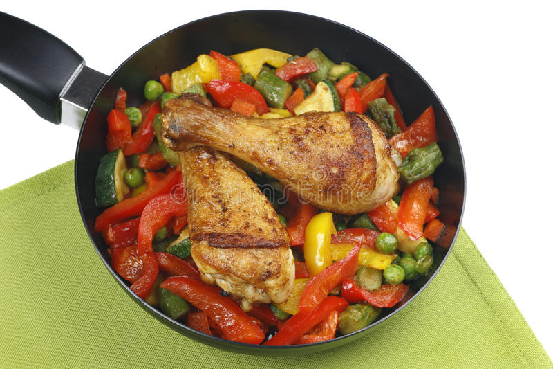 Pés de galinha com vegetais fotos de stock