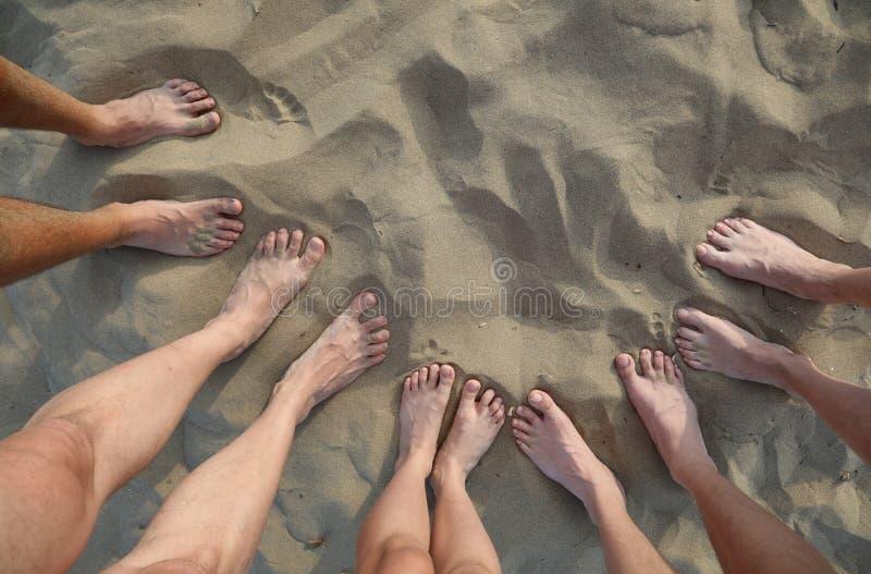 pés e pés da família fotos de stock royalty free