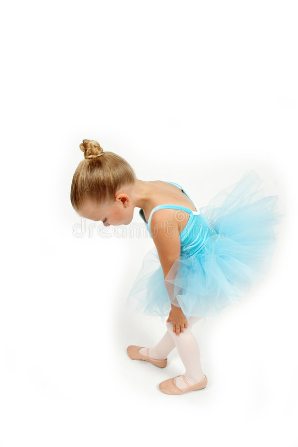 Pés pequenos da bailarina fotografia de stock royalty free