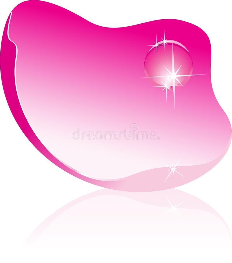 Pétala de Rosa com gota da água ilustração stock