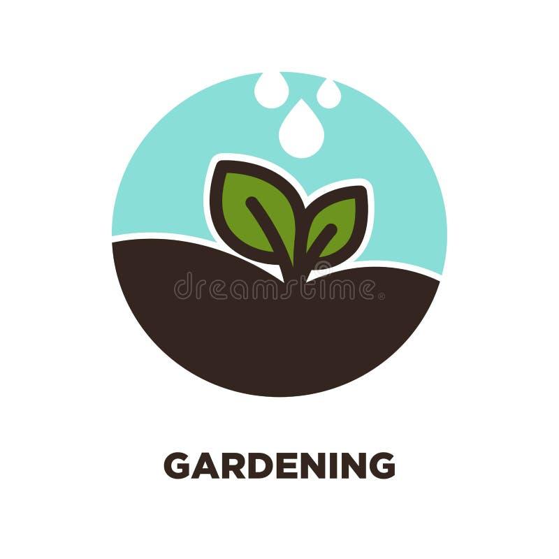 Pétala no símbolo de jardinagem ilustração royalty free