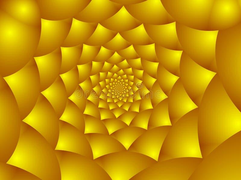 Pétalas douradas da flor.   ilustração stock
