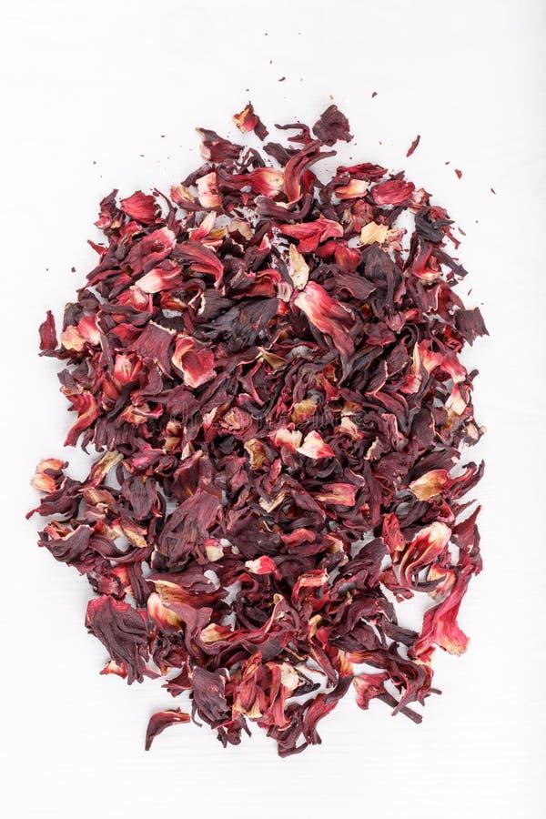 Pétalas secadas dos hibiscus foto de stock