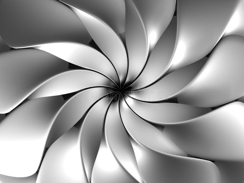 Pétale abstrait argenté de fleur illustration stock